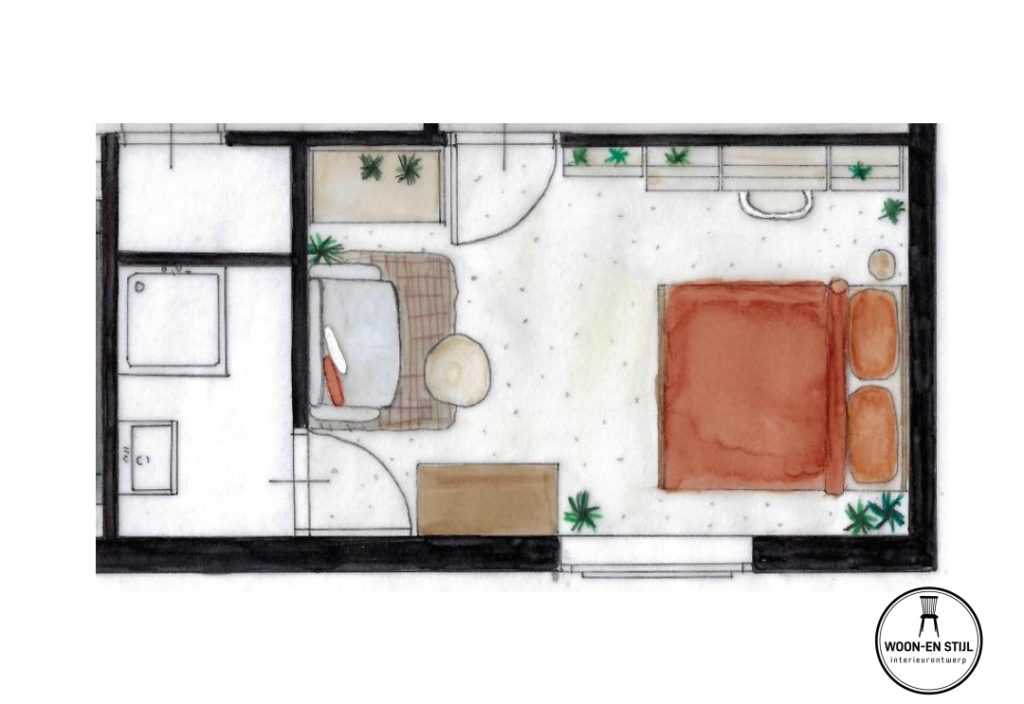 plattegrond slaapkamer Sophie